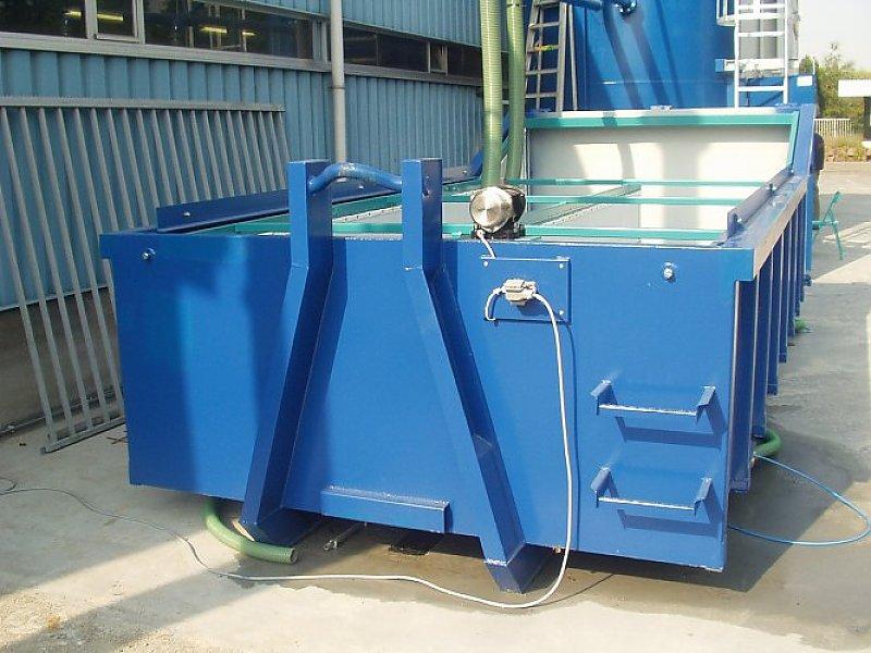Rüttel-Container geeignet für Abrollkipper-Fahrzeuge, Inhalt 8-25 cbm
