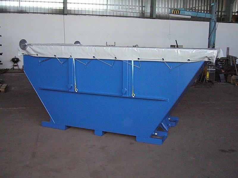 Entwässerungscontainer EWC kann mit einer abnehmbaren Deckelkonstruktion geliefert werden.