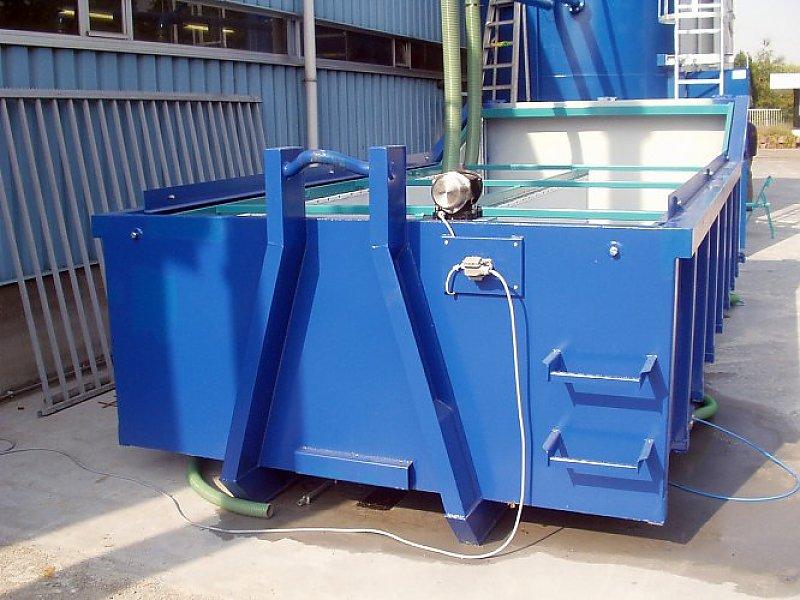 Entwässerungscontainer mit Hochfrequenzrüttler