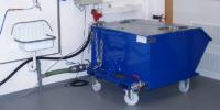 Kipp-Entwässerungscontainer mit Deckel und Rollen
