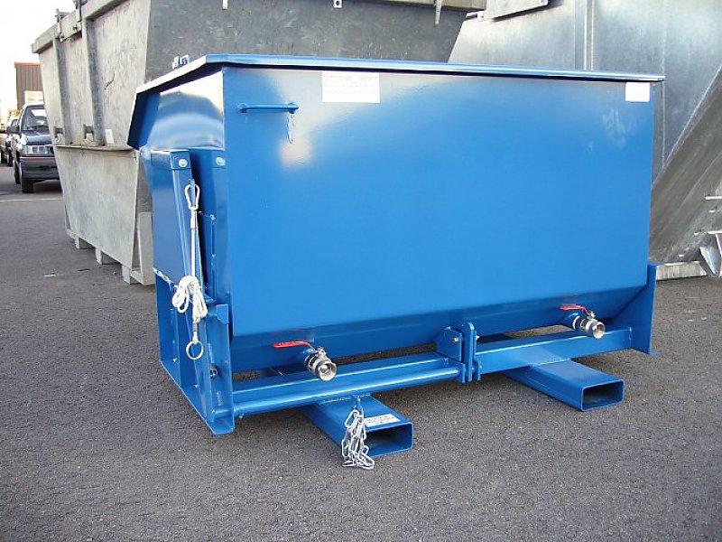Kipp-Entwässerungscontainer mit Filtratabfluss und Absperrventilen