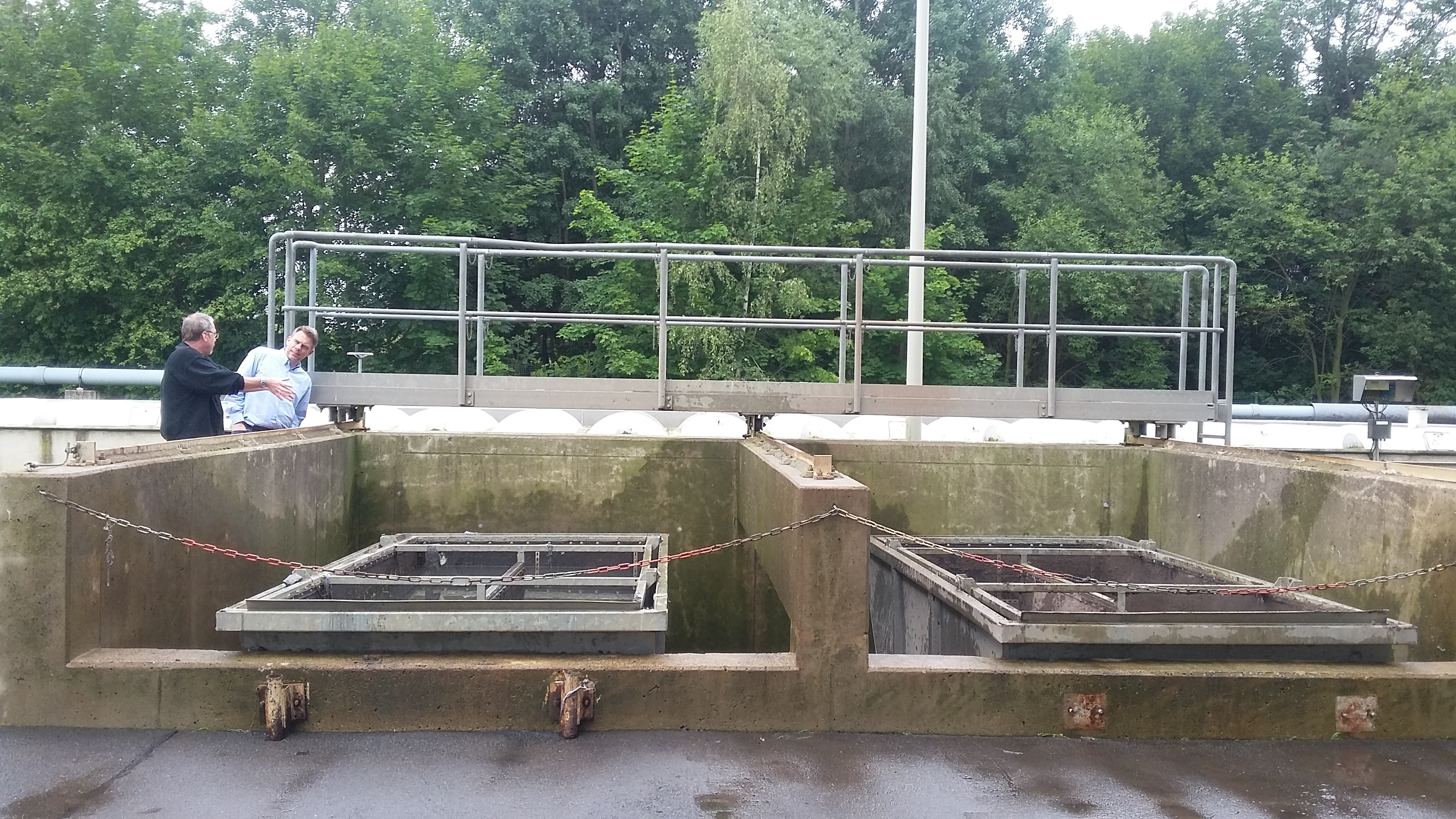 Kanalspülgut und Bohrschlämme entwässern