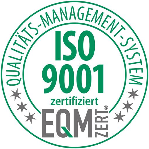 Qualitäts-Management-System EQM zertifiziert ISO 9001