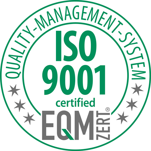 Quality-Management-System EQM certified ISO 9001